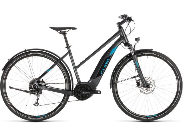 Cube Cross Hybrid ONE 400 Allroad E-crossbike Trapez grå (2019) | City-cykler
